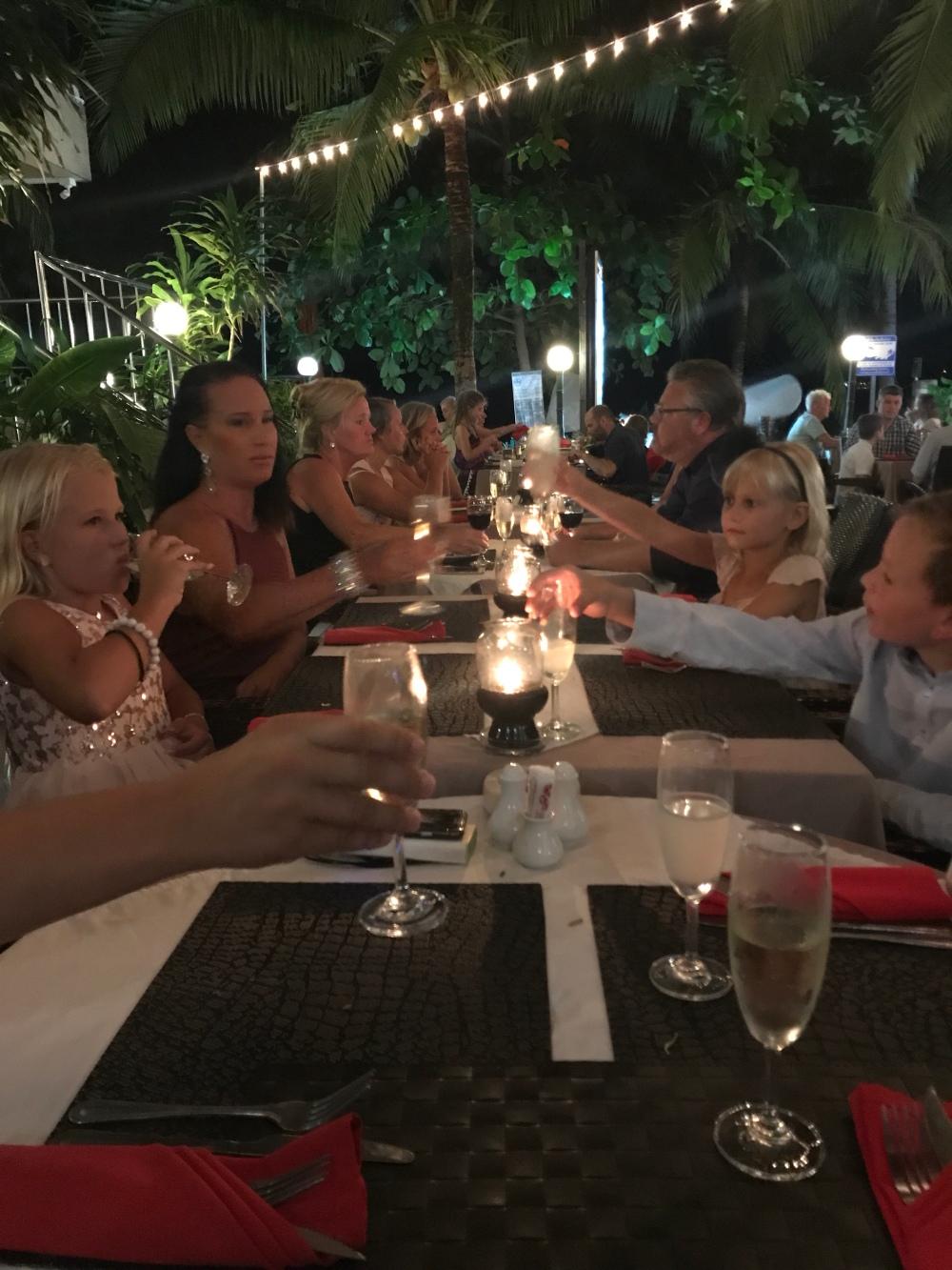 Mamma Mia i Kamala bjöd på bra mat och en härlig vy.